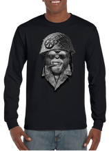 US Military Vietnam Peace Monkey Savage Long Sleeve T-Shirt - Vovo Inc