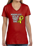 Wearing R.E.D. Friday Until My Daddy Comes Home Short Short Sleeve T-Shirt - Vovo Inc