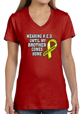 Wearing R.E.D. Friday Until My Brother Comes Home Short Short Sleeve T-Shirt - Vovo Inc