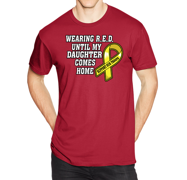 Wearing R.E.D. Friday Until My Daughter Comes Home Short Short Sleeve T-Shirt - Vovo Inc