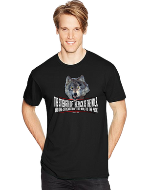 Military Brotherhood Wolf Pack Strength Short Sleeve T-Shirt - Vovo Inc