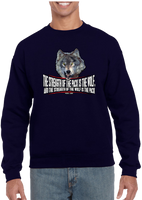 Military Brotherhood Wolf Pack Strength Crew Neck Sweatshirt - Vovo Inc
