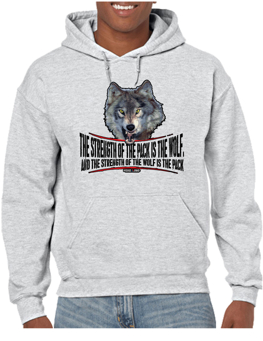 Military Brotherhood Wolf Pack Strength Hoodie Hooded Pullover Sweatshirt - Vovo Inc