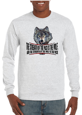 Military Brotherhood Wolf Pack Strength Long Sleeve T-Shirt - Vovo Inc