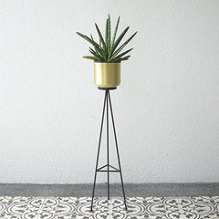 Brass pot plant stand