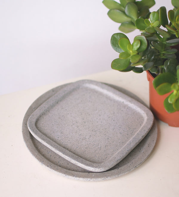 Light cement water trays