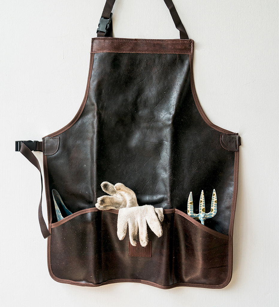 Leather Apron with gardening tools from Singapore store Tumbleweed Plants