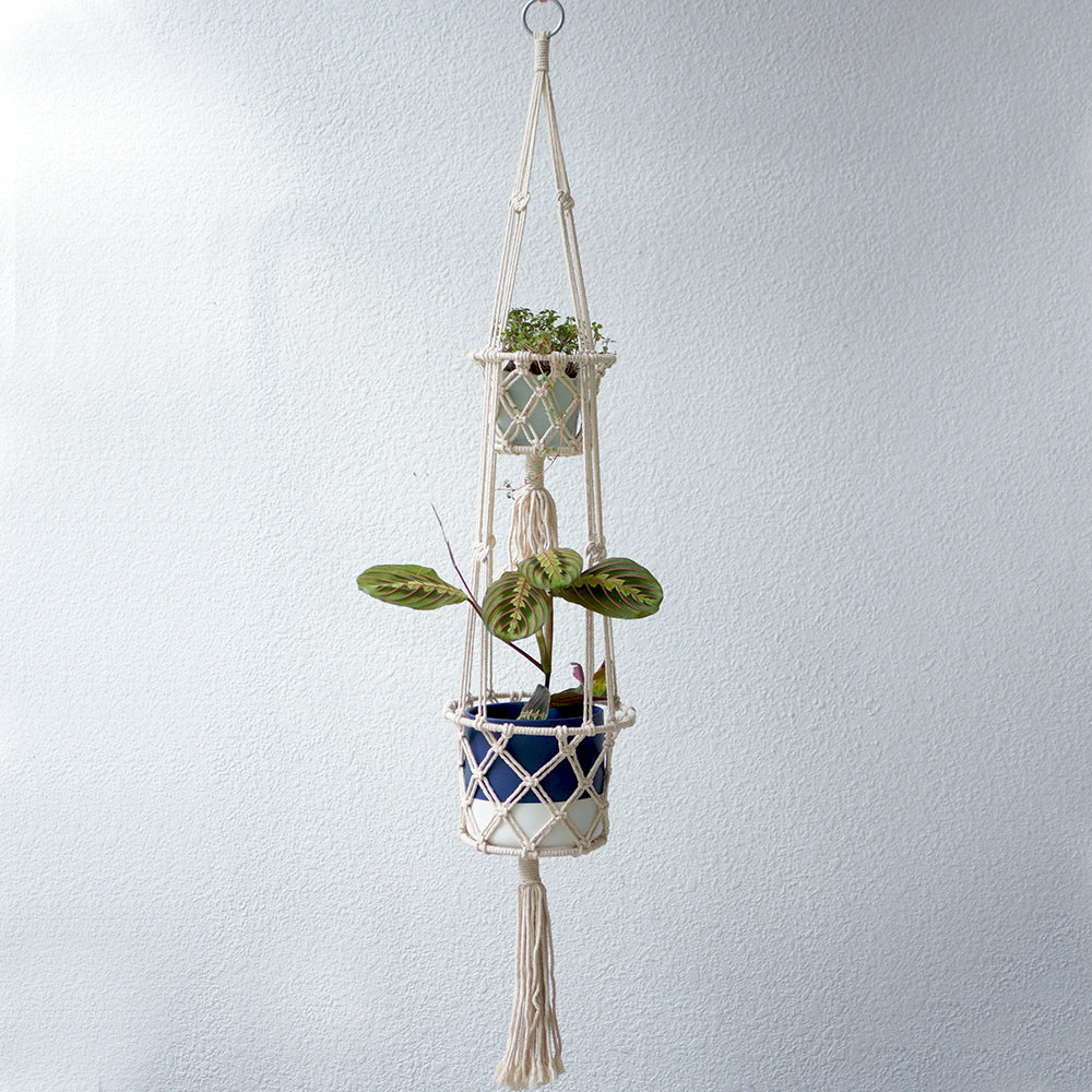 Macrame Hanger - double layer