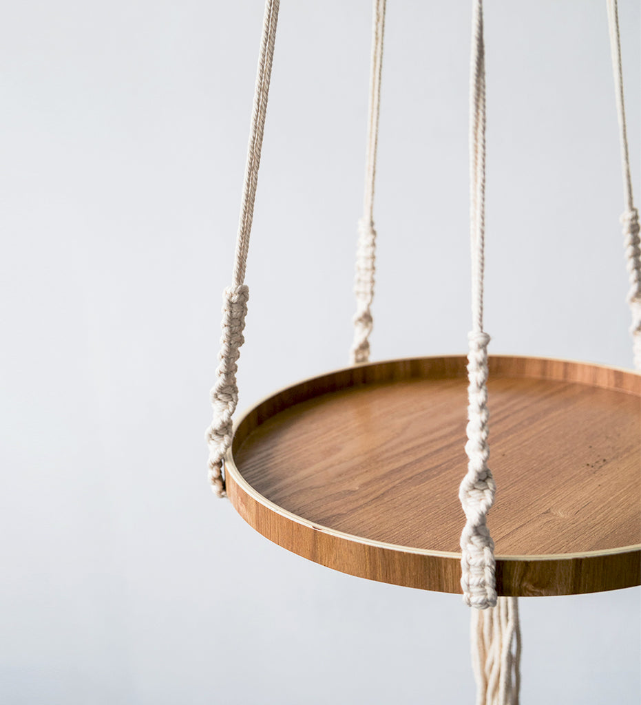 Macrame Hanger - floating shelf