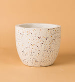 Egg Cement Pot White