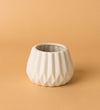 Geometric White Ceramic Pot C