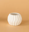 Geometric White Ceramic Pot E