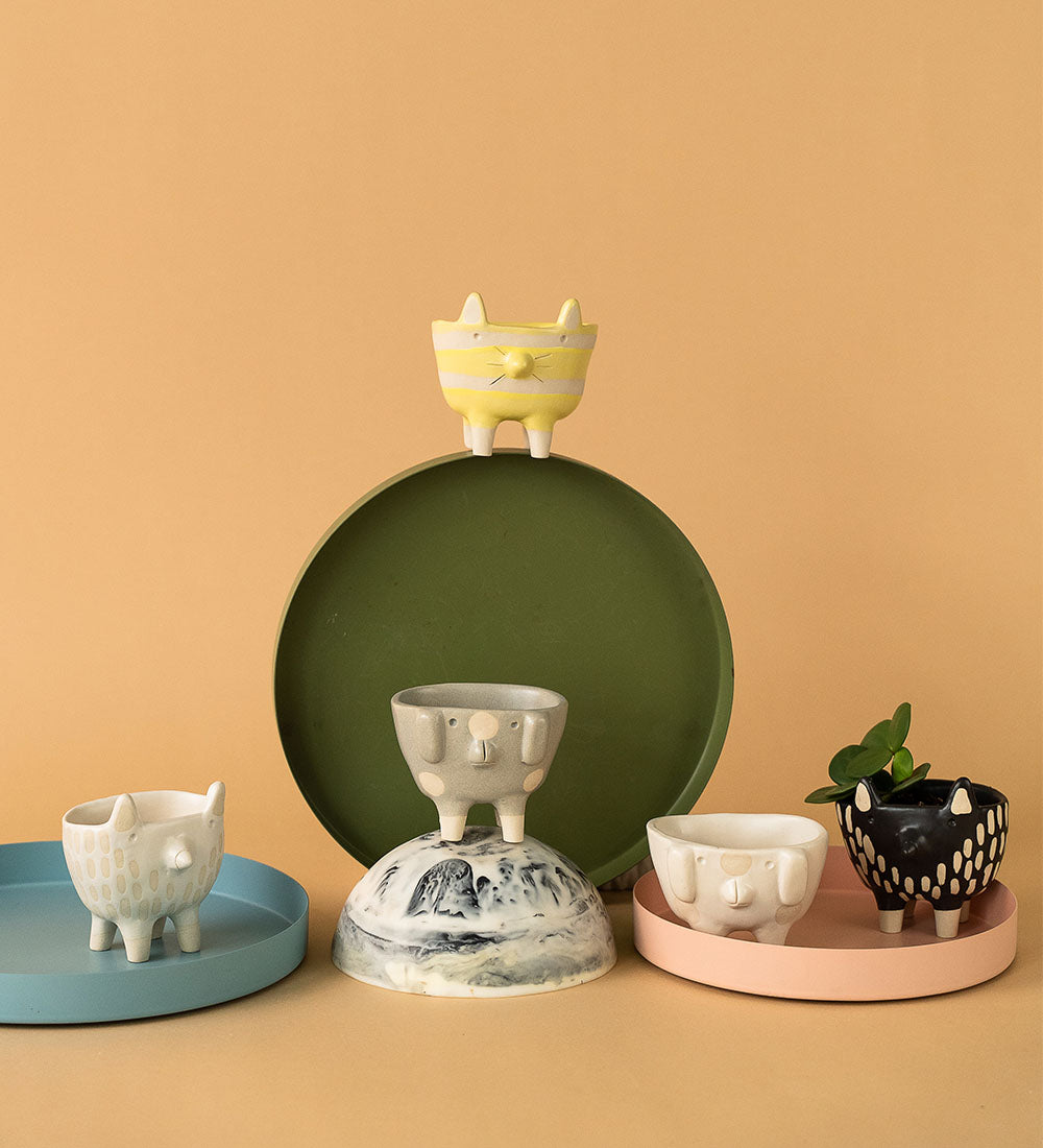 Mini Misfit Pets Ceramic Pots