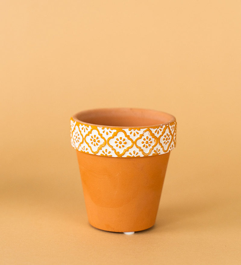 Terracotta Mini Pot Yellow