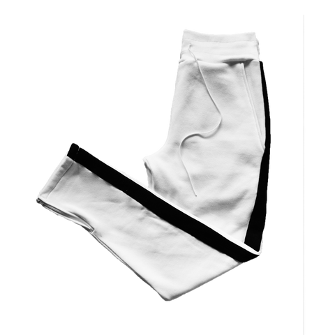 Contrast Sweatpants - White