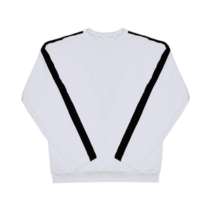 Contrast Sweater - White