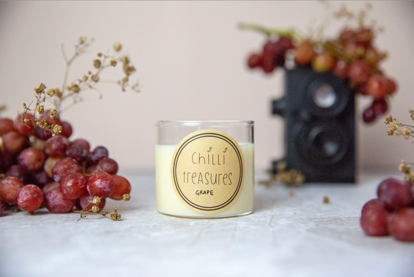 Grape Vegan Soy Candle - Chilli Treasures