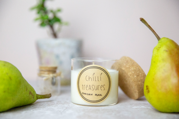 Parisian Pear Vegan Soy Candle - Chilli Treasures