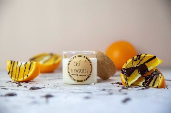 Orange Chocolate Vegan Soy Candle - Chilli Treasures
