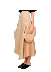 Double faced cotton skirt