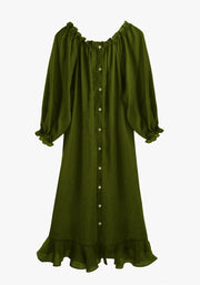 Green Loungewear Dress