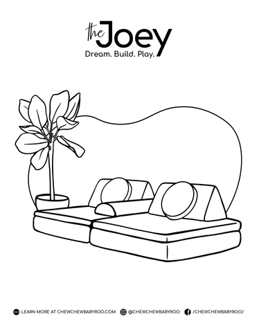 Joey Play Couch Colouring Page