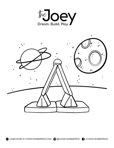 Galaxy Colouring Page