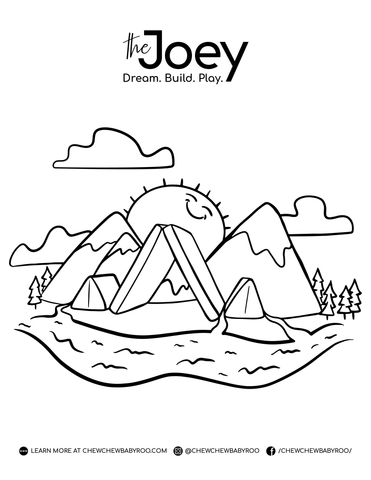 Mountains Colouring Page