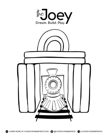 Choo Choo Colouring Page