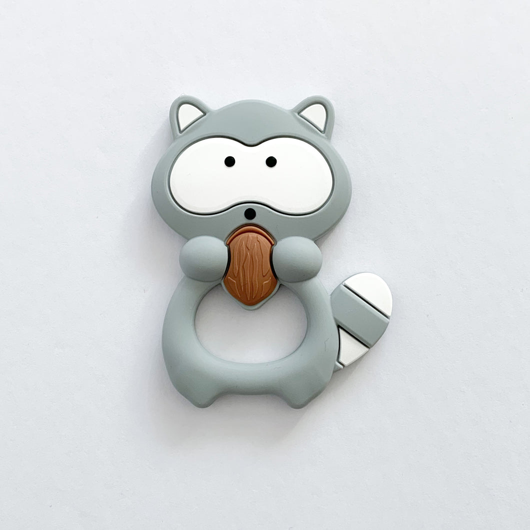 Racoon Teether + Clip
