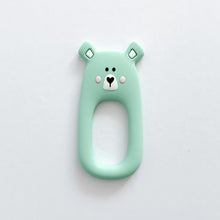 Load image into Gallery viewer, Mint Bear Teether + Clip