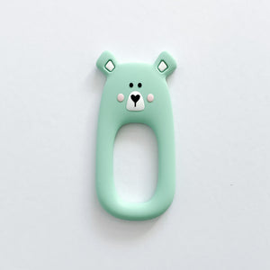 Mint Bear Teether + Clip