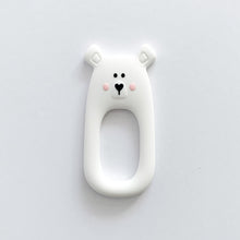 Load image into Gallery viewer, White Bear Teether + Clip