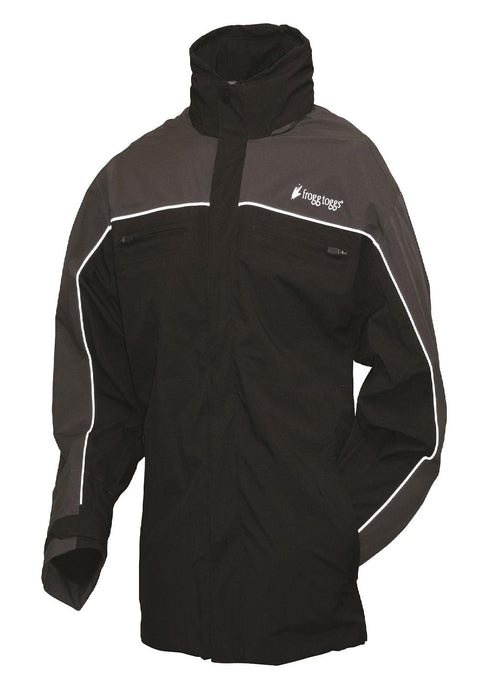 Frogg Toggs Pilot Illuminator Jacket Black-Charcoal Gray-SM