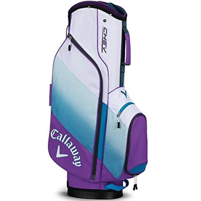 Callaway CHEV Cart Bag - Violet-Teal-White