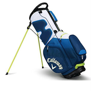 Callaway CHEV Stand Bag - Navy-Blue-Neon Green