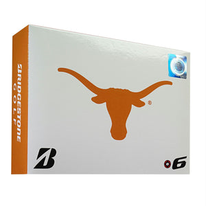 Bridgestone E6 Texas Longhorns Golf Balls-Dozen