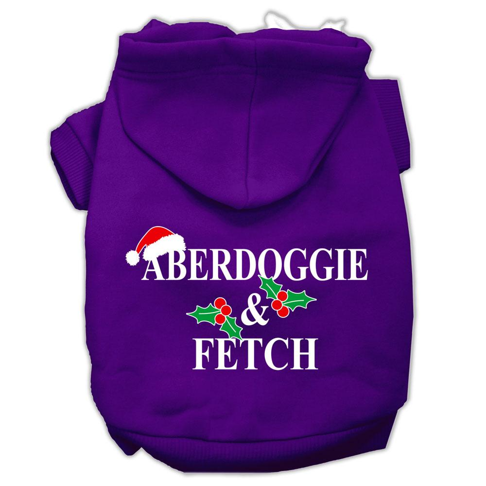 Aberdoggie Christmas Screen Print Pet Hoodies Purple Size Xl (16)