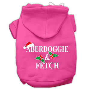 Aberdoggie Christmas Screen Print Pet Hoodies Bright Pink Size Xxxl(20)