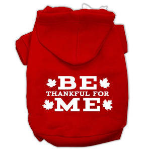 Be Thankful For Me Screen Print Pet Hoodies Red Size M (12)