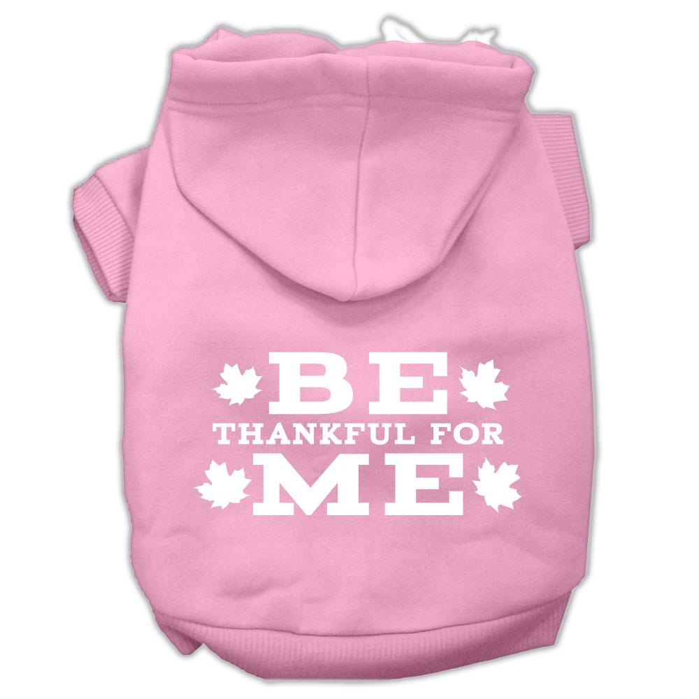 Be Thankful For Me Screen Print Pet Hoodies Light Pink Size Xxl (18)