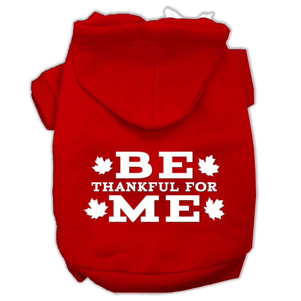 Be Thankful For Me Screen Print Pet Hoodies Red Size Xxxl(20)