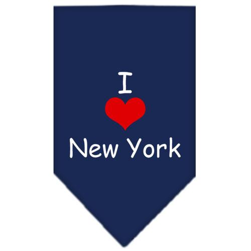 I Heart New York  Screen Print Bandana Navy Blue Small
