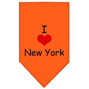 I Heart New York  Screen Print Bandana Orange Small
