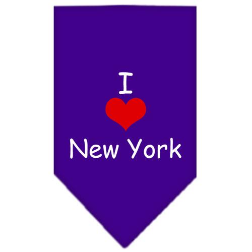 I Heart New York  Screen Print Bandana Purple Small