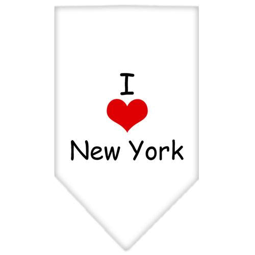 I Heart New York  Screen Print Bandana White Small