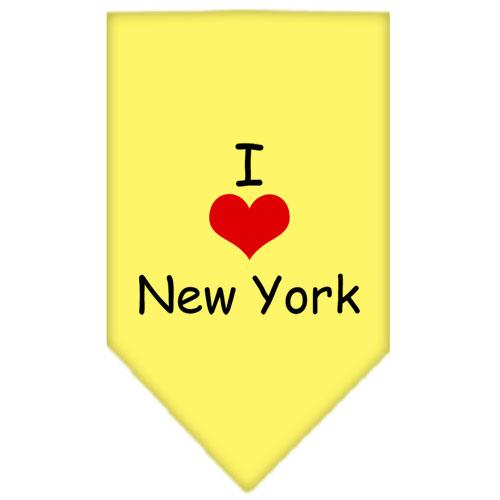I Heart New York  Screen Print Bandana Yellow Small