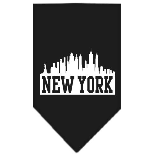 New York Skyline Screen Print Bandana Black Large