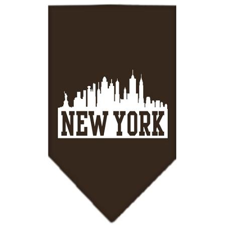 New York Skyline Screen Print Bandana Cocoa Large