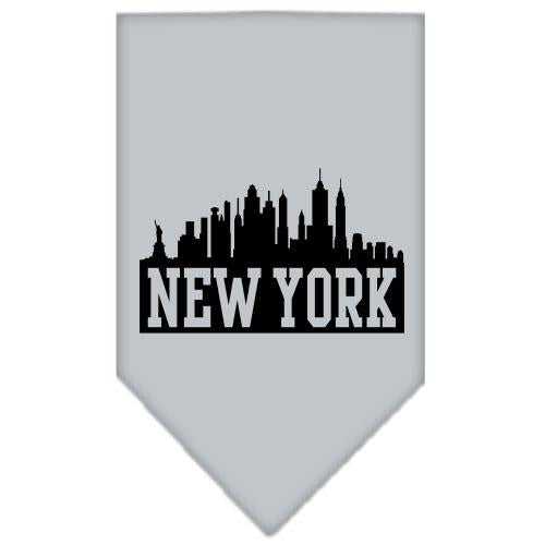New York Skyline Screen Print Bandana Grey Large